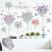 Mddjj Bella Colore Bouquet Farfalla Cartoon Wall