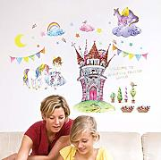 Mddjj Fiaba World Princess Castle Wall Sticker Pvc