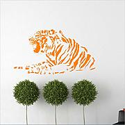 Mddjj Fierce Tiger Wall Sticker Removable Sticker