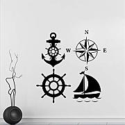 Mddjj Personalizzato Compass Wall Sticker