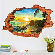 Mddjj Sunrise Seascape Wall Stickers Sunshine