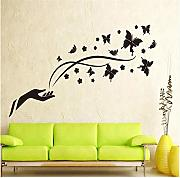 Meaosyy Black Butterfly Flying Hand   Wall