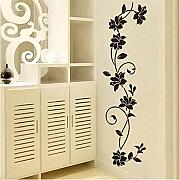 Meaosyy Black Flower Vine Wall Stickers