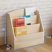 MEIDUO Mensole Libreria Cabinet Wood Shelves