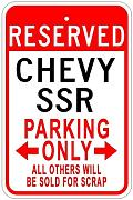 Metal Sign SSR Parking Sign Gift for Room Wall