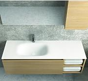 Mobile bagno 135 cm con lavabo in solid surface
