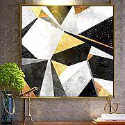 Motley Abstract Mosaic Geometric Pattern Hanging