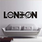 Mrhxly London Quotes Wall Sticker Mappa Del Paese