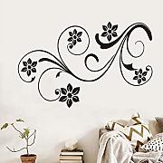 Mrhxly Lovely Floral Design Fiori Wall Stickers