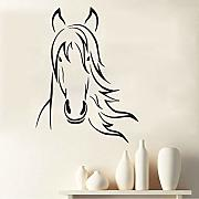 Mrhxly Outline Farmyard Animal Horse Head Wall