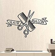 Mrlwy Hair Salon Barber Shop Sticker Clipper Hair