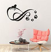 Murale Adesivo Infinity With Pet Paw Dots Stickers