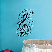 Musica Pen Swirl Wall Home Art Vinyl Decalcomanie