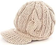 Nalmatoionme beige Simple Girl slouchy crochet berretto in maglia a coste, cappello accessori regalo