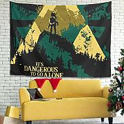 NeiBangM Dangerous to Go Alone Bed Sheet
