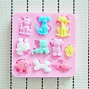 New lovely stampo in silicone a forma di animali