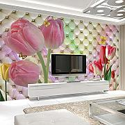 NNKKBH Fashion Interior Flower Design 3D Murale