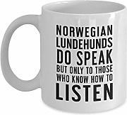 Norwegian Lundehund Mug Gift For Dog Owners Saying