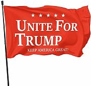 Not Applicable Garden Flag Unite for Trump 2020