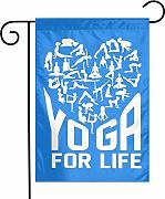 Not Applicable Yoga for Life Garden Flag Banner
