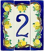 Colore Felce Splendente cm11x6 h1,5 Numero Civico 9 Ceramica In Gres