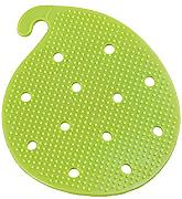 NXL Lavare Frutta E Verdura Brush Frutta Silicone Double-sided E Scrubber Di Verdure Multicolore Set 4 Multiuso Isolamento Pad Coaster,Green