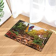 Nyngei Spring Forest Decor Parrot Volare nel Bagno