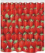 Nyngei Strawberry for Kids Shower Curtain