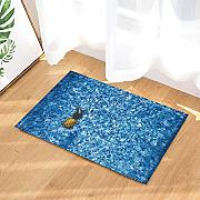 Nyngei Tropical Fruit Bath Rugs Ananas in Piscina