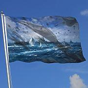 Oaqueen Bandiere, Fly Breeze 3 X 5 Foot Flag Ship