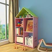 Cremagliera Rotante per casetta Scaffale per Bambini del Fumetto Domestico Scaffale per Giocattoli per Asilo Nido YHRJ Librerie per Bambini songmics Libreria Semplice