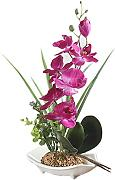 Orchidea Phalaenopsis bonsai artificiale, con