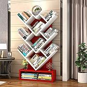 huashangbaihuodian 2 Livelli Minimalista Creativo Scrivania per Bambini Libreria Scaffali per Ufficio Scaffali per Libri/Scaffale per/Libri da Tavolo/ Rosso