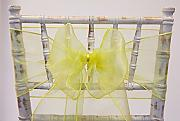 Organza Bows Chair Sashes 18 cm x 275 cm,