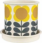 Orla Kiely Big Spot Flower Pot Medium, Yellow