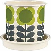 Orla Kiely Big Spot Flower Pot Small, Green
