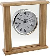 W M Widdop tradizionale in legno scuro di Mantel orologio al quarzo con aperture a pendolo finestra