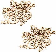 P Prettyia 16Pcs Fancy Wood Flourishes Shapes,