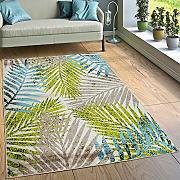 Paco Home Tappeto Urban Jungle Verde Blu,