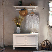 Panca con attaccapanni shabby chic