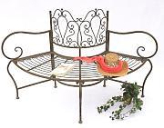 Panca giardino 77824 Cuccio B-83 centimetri di mobili da giardino in metallo