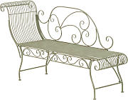 Panchina chaiselounge stile romantico CP452 156cm