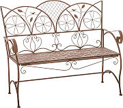 Panchina stile romantico CP445 106x91x51cm ~