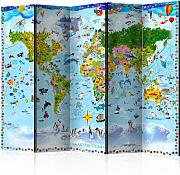 Paravento - World Map for Kids II [Room