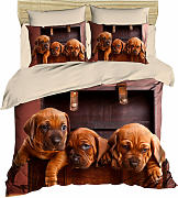 Parure Copripiumino Puppies Dogue Morbidissimi