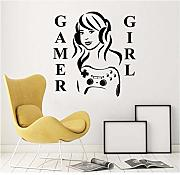 Pbbzl Wall Wall Decal Gamer Girl Wall Sticker