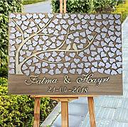 Personalized 3D Love Tree Wedding Guest Book