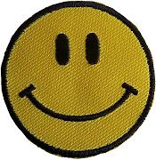 Piccolo giallo nero smiley ricamato ferro da stiro,