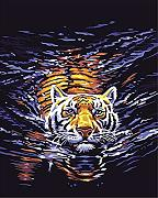 Pittura digitale animale utile tigre DIY pittura