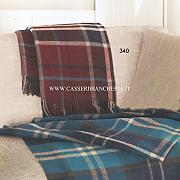 Plaid Di Pura Lana Somma Kilt Bordeaux 340